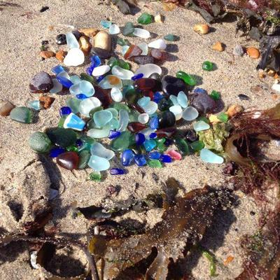 A Morning's Find - Beautiful Sea Glass