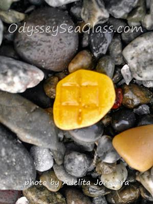 Sea Glass Beach, Washington prized orange