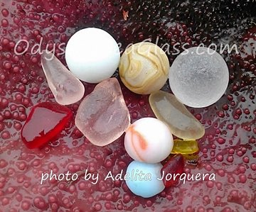 Glass beach Washington continues to reveal treasures like these that Adelita found