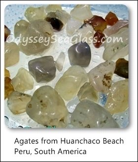 agates huanchaco beach trujillo peru south america
