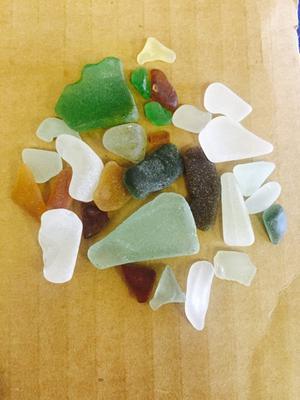Some beach glass colors - Washington
