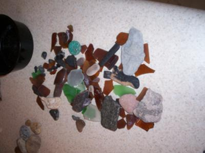 Sea Glass and Beach Finds in Naples