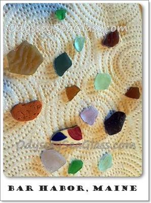 Bar Island - Bar Harbor, Maine Sea Glass