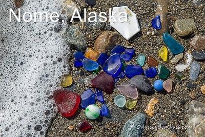 Nome, Alaska sea glass