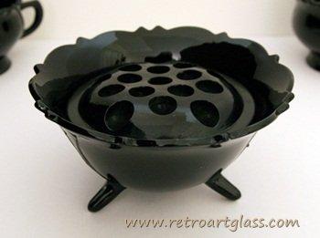 Black Bowl - Depression Glass