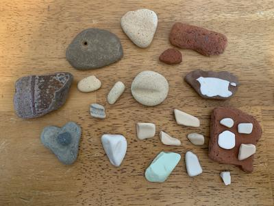 Beach pottery finds!