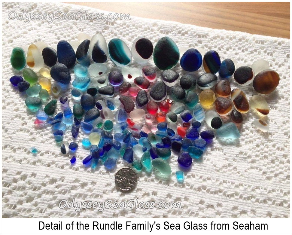 Rundle family sea glass from Seaham Beach