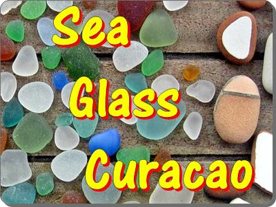Sea Glass on Curacao in the Caribbean