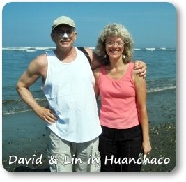 David and Lin at Odyssey Sea Glass Huanchaco, Peru