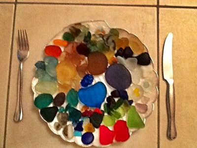 Dinner is served - my favorite sea glass - WINNER!