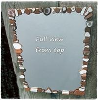 Easy DIY Beach Finds Mirror - Sea Glass, Driftwood, etc