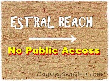 There is no public access to Estral Beach, Michigan