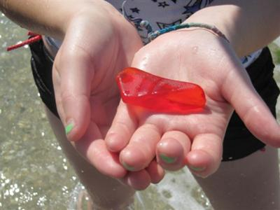 Finding Red Sea Glass