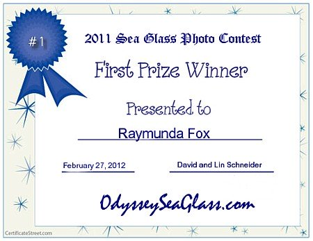 Winner 2011 Online Sea Glass Photo Contest