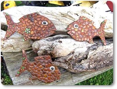 Sea Glass Fish Mosaics