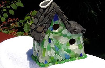 Sea Glass Birdhouse