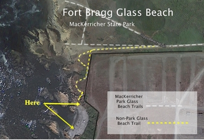 Use this map to leave MacKerricher Park and find lots of sea glass to take home.