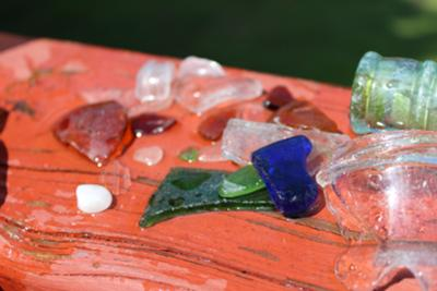 This is the sea glass we found!