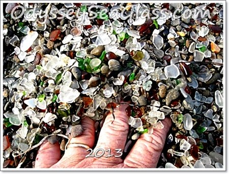 Famous Glass Beach at Fort Bragg, California