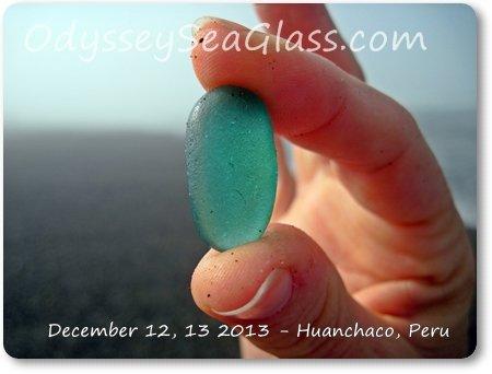 aqua blue sea glass big