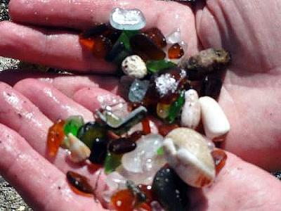 Guantanamo Sea Glass Beach samples