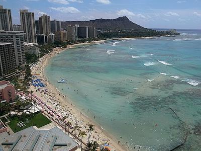 In front of the Sheraton Waikiki - Sea Glass