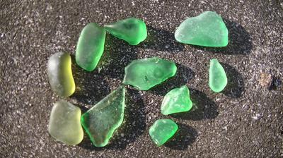 Green sea glass