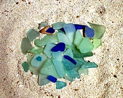 Blues are my favorite sea glass colors!