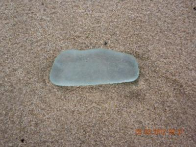 Beautiful Large piece of Sea Glass waiting to be discovered