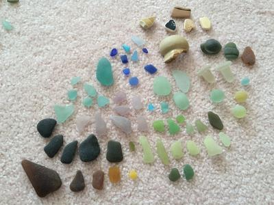 Example of various colors, as well as a couple marbles and bottle stoppers