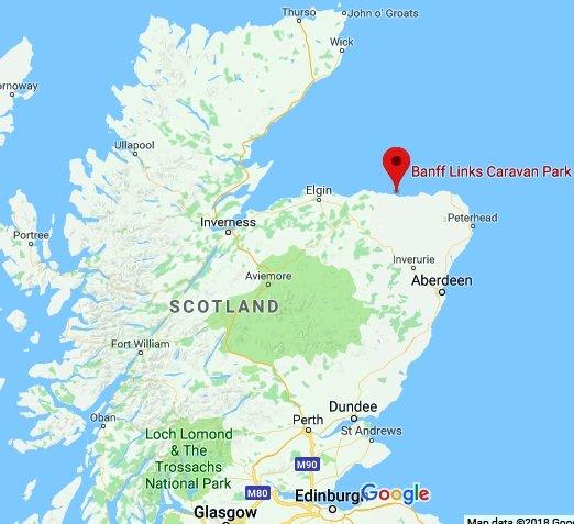 map of area of banff beach scotland for sea glass
