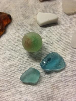 Marble with a few blues  - August 2013 Sea Glass Photo Contest