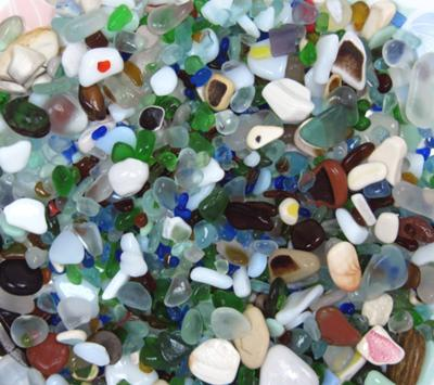 Sea Glass Piled Up