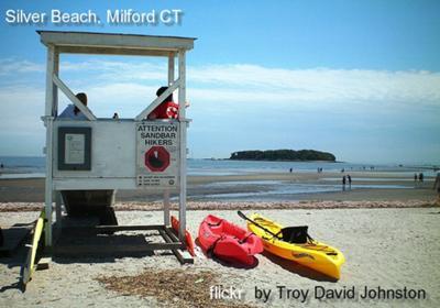 Silver Beach, Milford Connecticut sea glass