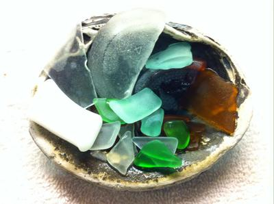 Sea glass from Onslow Beach NC
