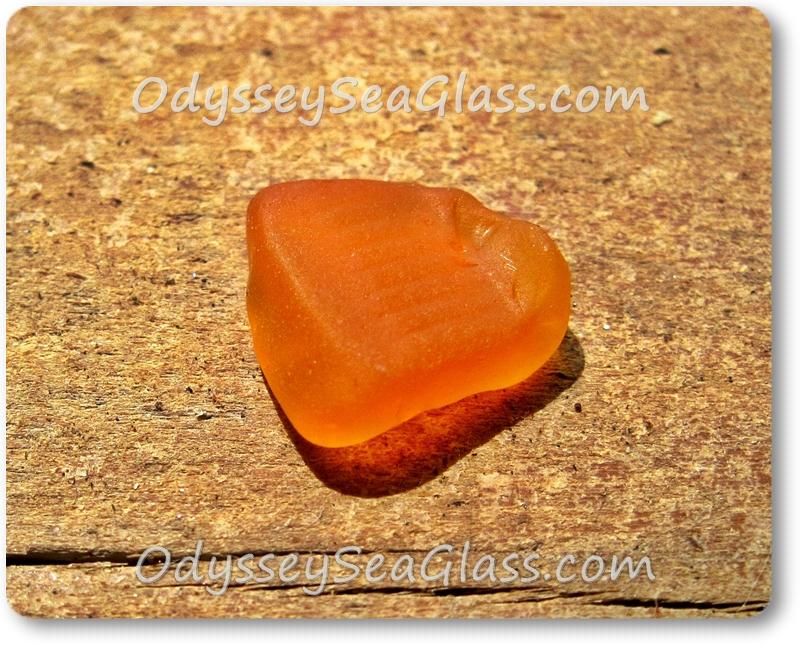 Flip side of my first orange sea glass