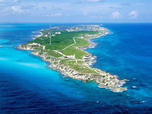 Isla Mujeres from the Air