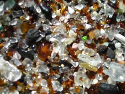 Sea glass sand