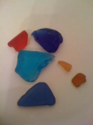 Rare red sea glass!