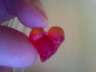 Red Sea Glass Heart