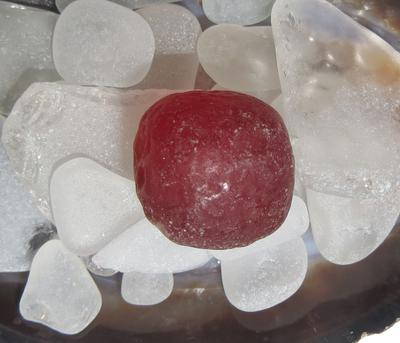 Red Sea Glass Cube - Sea Glass Photo Contest