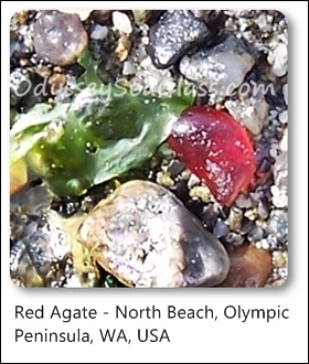 agate red north beach washington state usa