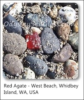 agate red whidbey island west beach washington state usa