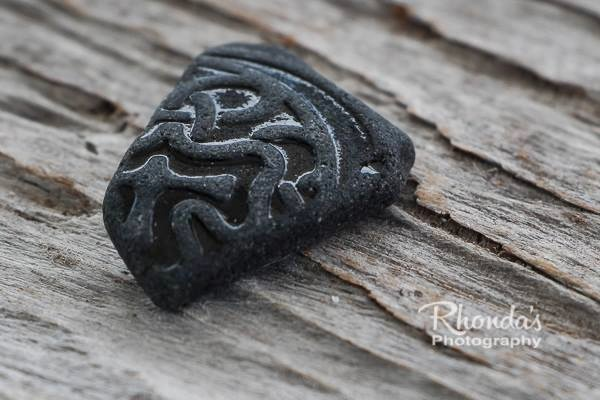Rhonda's Beautiful Patterned Black Sea Glass