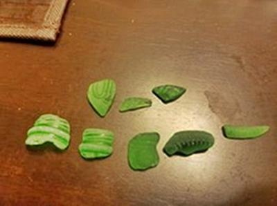 Some of the more interesting beach glass pieces