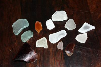 Sea glass collected in 20 minutes from just one of the beaches! (Beach K)