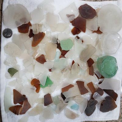 Saxis Island glass