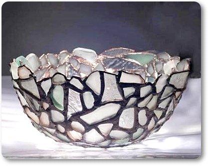 Sea Glass Art Bowl