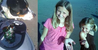 Arianna and Kiley Seacliff Beach Sea Glass