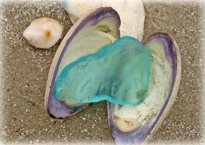 Sea Glass by the Seashore